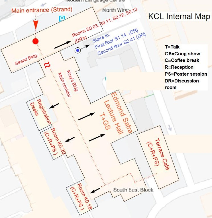 Kings College London Map.Strings Geo Bh